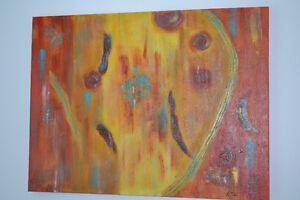 Grande Peintures Abstraite Acrylique Toile Moderne