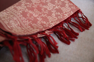 Brand new in box Vintage Shades red handmade scarf London Ontario image 7
