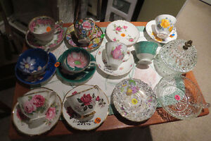 FINE CHINA TEA CUPS - 50 PLUS YEARS - USE THEM, NOT LOOK AT THEM