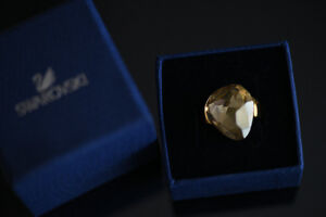 Bague Swarovski Helios gold crystal  ring
