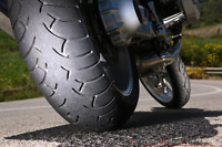Motorcycle tire instalation