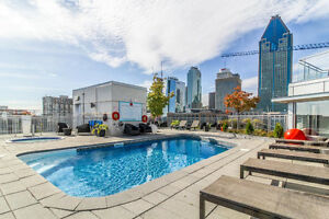 Urban condo 3 1/2 in Griffintown with gym,pool, rooftop terrass