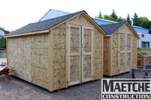 8ft x 12ft Sheds Ready for Pickup Today! (Maetche Construction)
