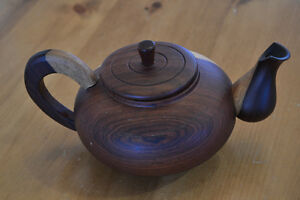 Small wooden teapot