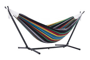Vivere Double Rio Night Hammock Combo with 9' Stand and Carry Ba