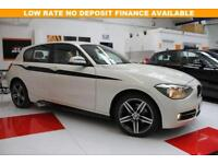 2014 BMW 1 SERIES 1.6 116I SPORT 5D IN ALPINE WHITE+SATNAV
