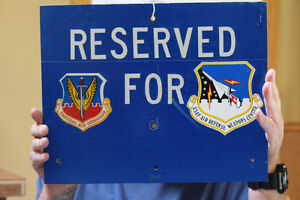 USAF Air Defense Weapons Centre Reserved Parking Sign NEW PRICE