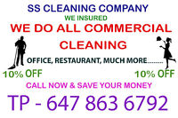 SS CLEANING CO..WE DO ALL COMMERCIAL. We insured the company