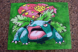 Venusaur (Pokemon) Acrylic Painting on Canvas