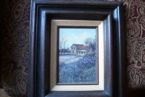 Jefferson Stokes Oil painting Old House near Cookstown Ontario