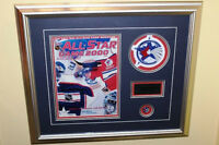 2000 NHL All Star Game Framed Memorabilia. Program, Patch, Pin