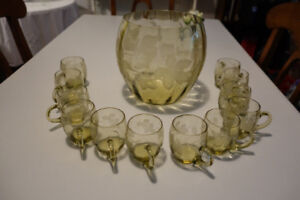 Wine/champagne Punch Bowl Set with 12 cups