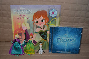 Frozen 3 Figure Set, Book & CD- All for $15