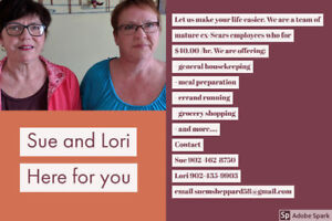 Sue&Lori Meal Preparation and Delivery and other Services