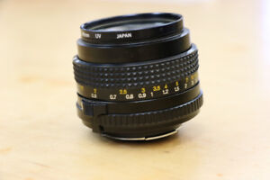 ** GREAT DEAL ** Minolta 50mm Lens w/ 49mm UV Filter