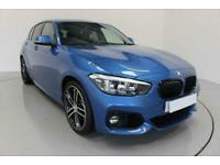 2019 BLUE BMW 118i 1.5 M SPORT SHADOW EDITION 5DR HATCH CAR FINANCE FR £273 PCM