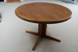 Teak Round Table and Chairs