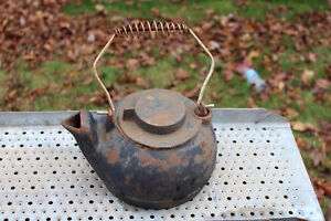 WOODSTOVE CAST IRON KETTLE $40