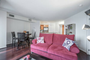 Spacious furnished condo: 2 beds, 2 baths, downtown Toronto