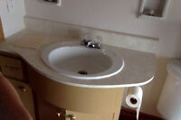 Sink, Counter, Vanity