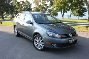 2013 Volkswagen Golf Wagon AUTO TDI Highline|Leather|Roof|Blueto
