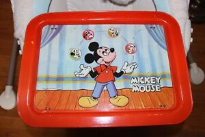 1960's Mickey Mouse Metal Litho TV Tray