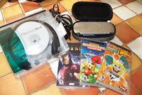 Sony PSP avec 3 jeux et écouteurs