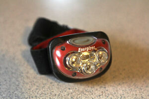 Energizer red and white light headlamp. $10.