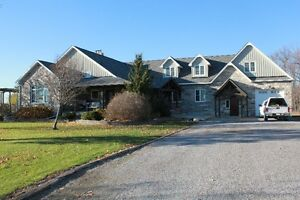 100 Acres, Stunning Custom Built Home!
