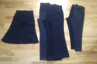 Medium dress pants, leggings, and skirt