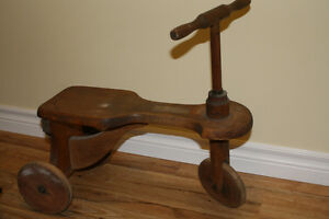 Antique Wood peddle trike