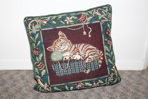 Christmas cat couch pillow