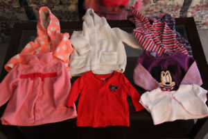 Girl's sweaters  size 0 to 6 mos
