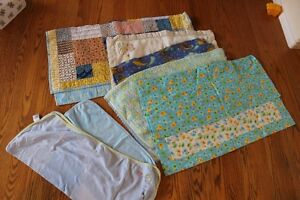 baby blankets (summer,winter and quilted for playmat)