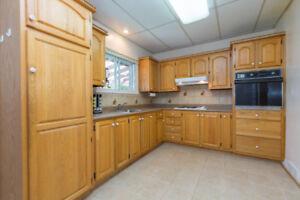 Set of oak kitchen cabinets