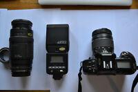 Canon 650 avec 2 lentilles +