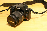 Canon Rebel XTi / 400D with lens, grip and accessories