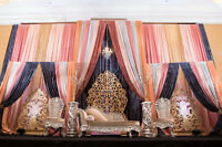 FULL PACKAGE WEDDING AND EVENT DECOR AT HOME OR BANQUET HALL
