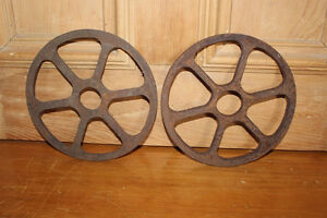 Old Small Metal Industrial Wheels - Great for Industrial Decor
