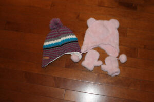 12-18 month Girls toques. Winter hats.