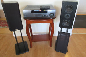 Kenwood Receiver with Remote Control Speakers and Stand