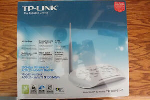 New TP-LINK TD-W8951ND Wireless N150 ADSL2+ Modem Router