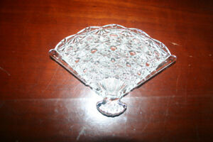 Vintage Fan Shaped Candy Dish - PRICE REDUCED!