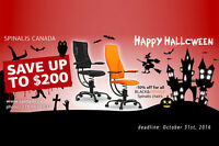 Halloween SALE of SpinaliS Chairs for Healthy Back