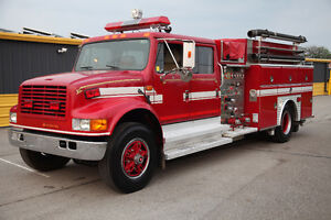 International 4900 Crew cab Fire Truck
