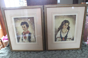Vintage Pair of Gypsy Prints London Ontario image 1