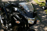 Black Honda CBR 250R with Akra Full Exhaust and More!