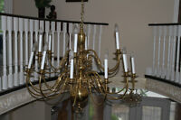Vintage Large 18 Candles Brass Chandelier Watch|Share |Print|Rep