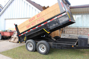 80$ a day Dump and Flat Bed Trailer for rent
