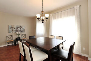 CLASSY counter height DINING set w/ 6 chairs from Urban Barn